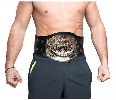 Champion Wrestling WWF WWE MMA Belt Pro Wrestler World Champ Boxer Costume