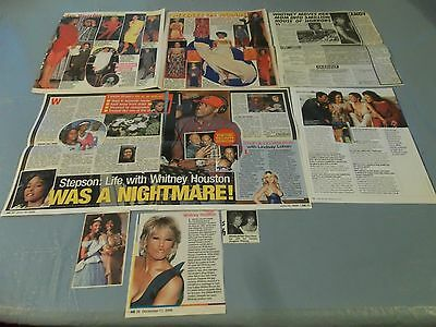 Whitney Houston big lot of clippings #RC21