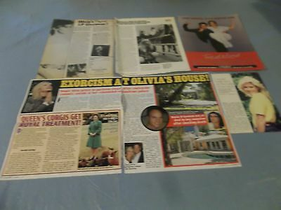 Olivia Newton John  big lot of clippings #RC18