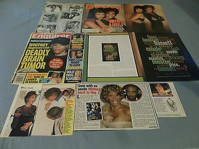 Whitney Houston big lot of clippings #RC18
