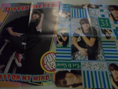 Justin Bieber big lot of posters clippings #XW6