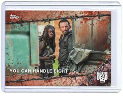 "The Walking Dead Season 7  ""You Can Handle Eight"" BLOOD Trading Card sn# 1/1"