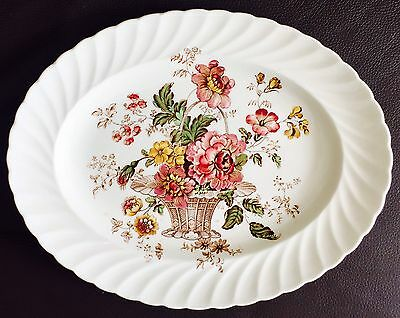 """Chelsea Rose Royal Staffordshire Dinnerware 11""""/28cm Platter By Clarice Cliff"""