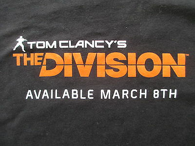 Tom Clancy The Division Video Game Black Orange T Shirt Size L Large XL X-Large