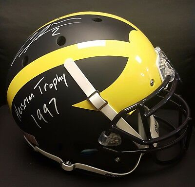 Michigan Wolverine Charles Woodson Schutt Authentic Helmet w/ Inscription
