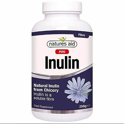 Natures Aid Pure Inulin Soluble Fibre Extracted Food Supplement 250 g Powder