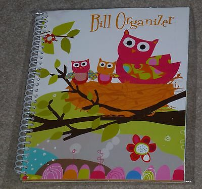 Who's Who Owl Monthly Bill Organizer