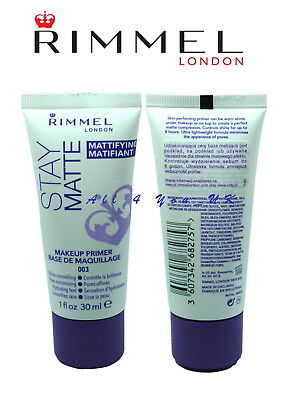 Rimmel Stay Matte Mattifying Matifiant~~Make Up Primer~~ Base De Maquillage 003