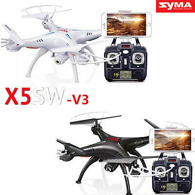 Syma X5SW-V3 2.4G RC Quadcopter Drone RTF UFO with WIF HD Camera FPV Real Time