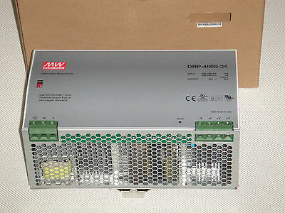 Mean Well, DRP-480S-24, Switching Regulator Power Supply 120v 24vdc 20a NEW