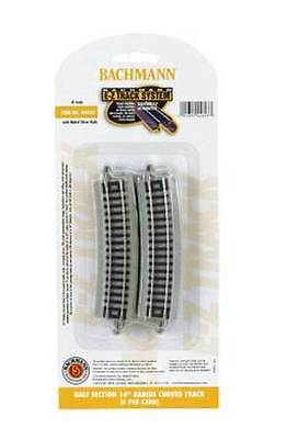 "Half Section 14"" Radius Curved Track (6pc), Bachmann 44823"