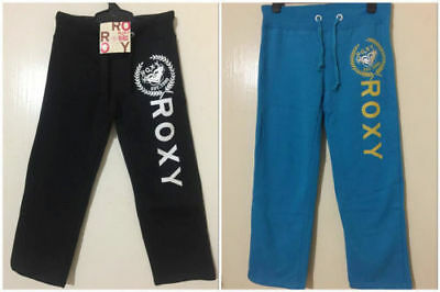 Roxy Girls TRACK Pants Fleece Trousers Sports Casual Tracksuit Pants Size 4 6 8