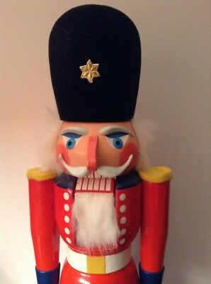 "Wachsoldat Vero Seiffener Nussknacker German Nutcracker 16"" With Box"