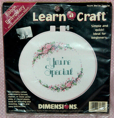 Dimensions You're Special Ribbon Embroidery w/Counted Cross Stitch Kit Unused