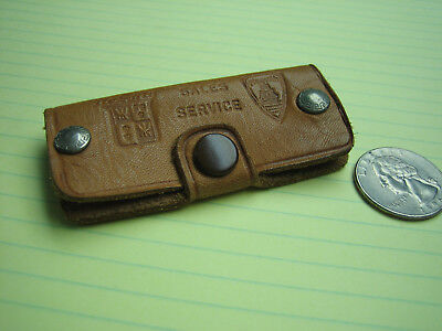 Vintage DeSoto and Plymouth Leather Key Case Fob Holder 5 digit Phone Number