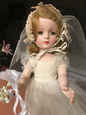 VINTAGE 1950 ERA MADAME ALEXANDER WENDY Bride Doll