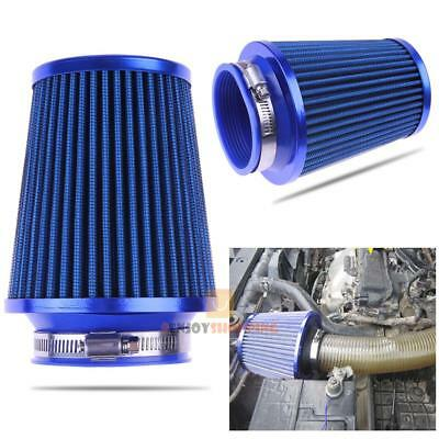 76mm Universal Car Auto Air Intake Filter High Flow Round Cone Cold Cleaner