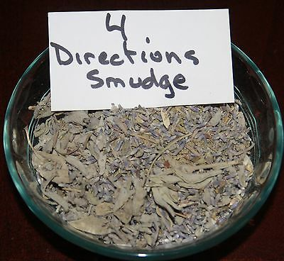 5gr 4 DIRECTIONS SMUDGE INCENSE BLEND (WHY NOT HAVE ALL THE DIRECTIONS......)