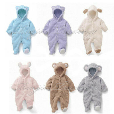 New Kids Baby Clothes Girl Boy 3D Ear Romper Jumpsuit Playsuit Outfits UK Stock