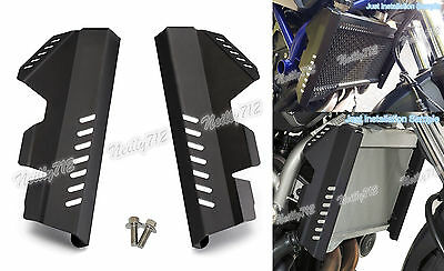 Radiator Side Guard Cover Protector Black For 2014-2017 YAMAHA MT-07 FZ-07 AU