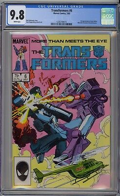 Transformers #6 CGC 9.8 NM/MT Wp 1st Josie Beller (Circuit Breaker) Marvel 1985