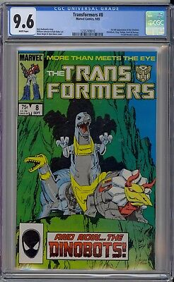 Transformers #8 CGC 9.6 NM+ Wp 1st Full Dinobots Huge Key Marvel Comics 1985