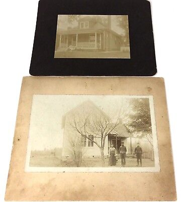 Original Vintage Antique Photos Lot of 2 Matted