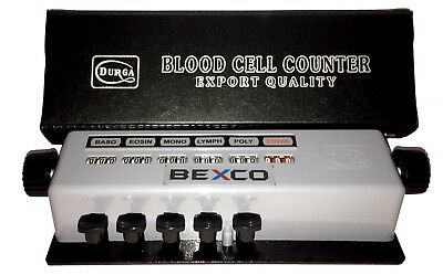 Best Price,Blood cell Counter 5 Keys IN Protective Case by Brand BEXCO,Free Ship