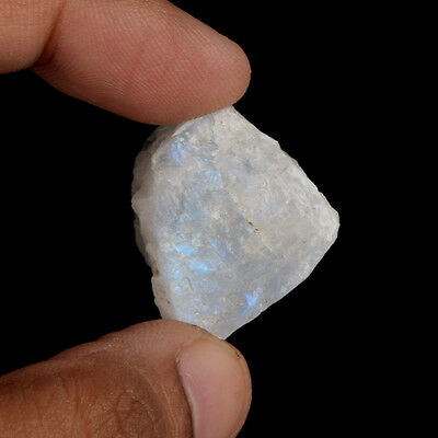 Egl Certified 100% Natural 62 Ct. White Rainbow Rough Loose Gemstone V-5716