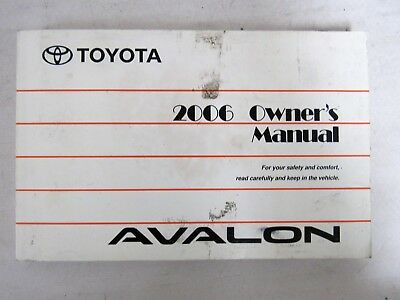 2006 toyota avalon owners manual with warranty guide and case rh picclick com 2000 Toyota Avalon Black 2000 Toyota Avalon