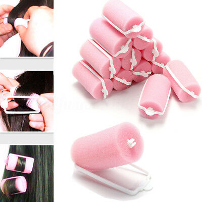 24Pcs Magic Sponge Foam Cushion Hair Styling Rollers Curlers Twist Tools Witty
