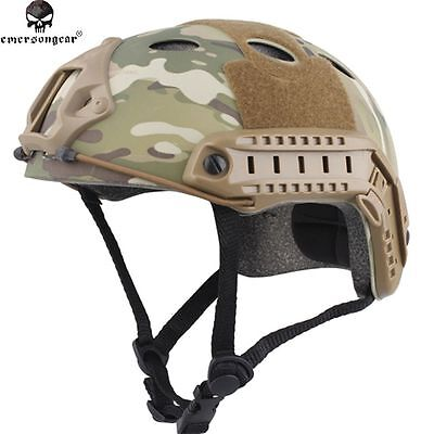Tactical Airsoft Paintball Breathable Emerson Fast Style PJ Helmet MC EM8811D