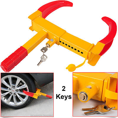Wheels Clamp Car Vehicle Heavy Duty Anti-Theft Security Safety Lock with 3 Keys