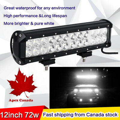 12inch CREE LED Work Light Bar Spot & Flood Combo Off Road Truck Jeep Ford SUV