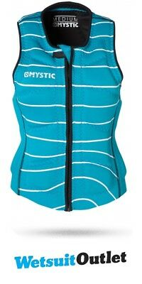 2017 Mystic Star Ladies Front Zip Wake Impact Vest Mint 150585