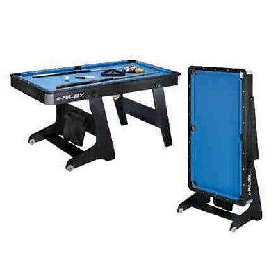 RILEY Pool table FP-5B 5ft Folding Snooker table De Luxe extras cues triangle