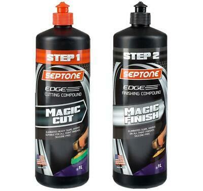 Septone Edge Magic Cut & Finish Step 1 & 2 Cutting & Finishing Compound 2x 1L