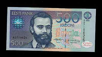 ESTONIA  500  KROONI 1996  AS PICK # 81a UNC.