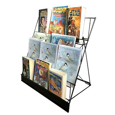 4-Tier Wire Display Rack Literature Brochure Magazine Stand Book Tabletop Rack