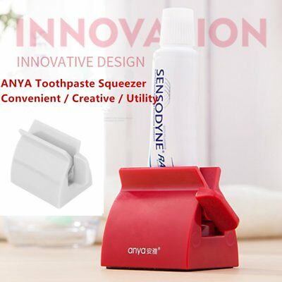 Rolling Tube Toothpaste Squeezer Toothpaste Easy Dispenser Seat Holder Stand HJ