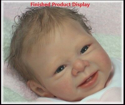 Unpainted Reborn Doll Kit Head & 3/4 Limbs Soft Vinyl Mold for 22'' Doll
