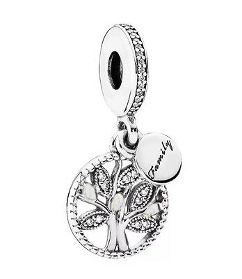 Charm Albero Tree Pandora Family Pave' sImIl New