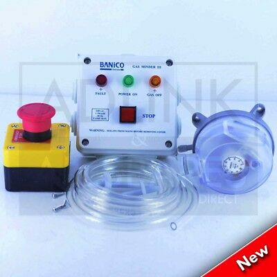 Gas Interlock Control Panel C/W Pressure Switch Commercial Kitchen Interlock