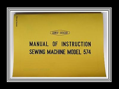 Janome New Home Model 574 Zigzag Sewing Machine Instruction Manual + Parts List