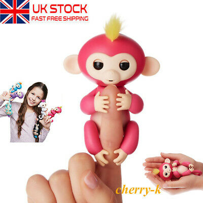 2017 WowWee Fingerlings Baby Monkey Electronic Interactive Finger Pet Toys XMAS