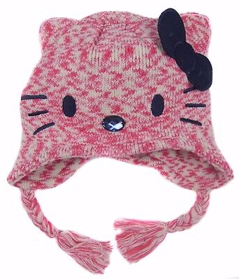 Hello Kitty Hat Peruvian Style Hat to Cover Ears 8-12 Years