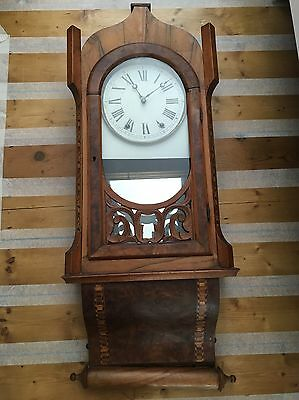 Antique 19th century American Wall Clock In Need Of Restoration