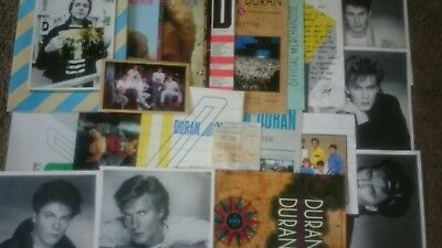 duran duran 1980s memorabilia (fan club, ticket stub)