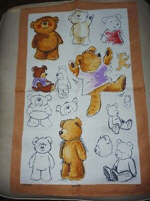 Teddy Bears Irish Cabin Dish Tea Towel McCaw Allan Bar Towel NEW England