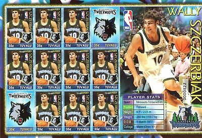 Tuvalu 2006 Basketball Players sheetlet UM (MNH)
